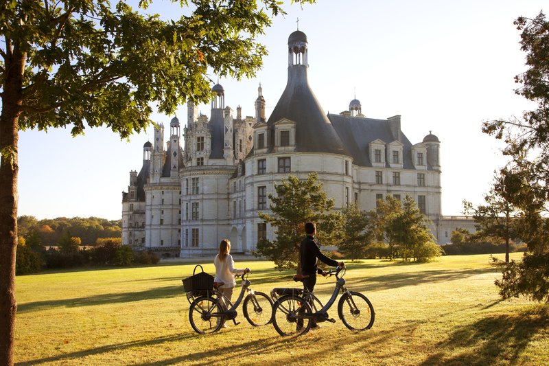 Biking in Chambord