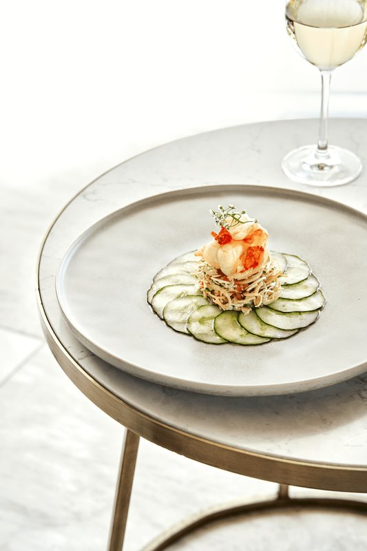 Stay bar | Signature dish:  Palm heart and tiger prawn