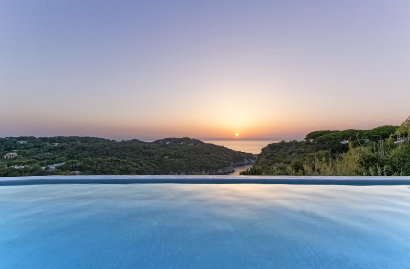 Sunset Seen From Infinity Pool