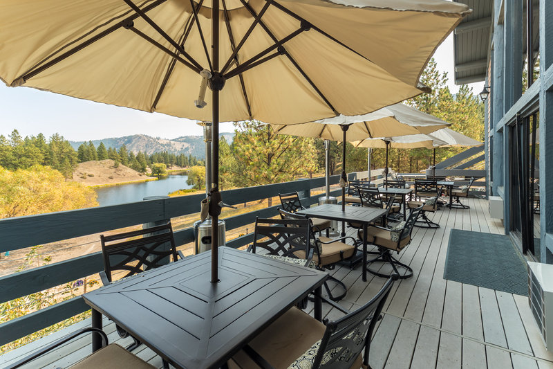 Take in the views on the Lodge Deck