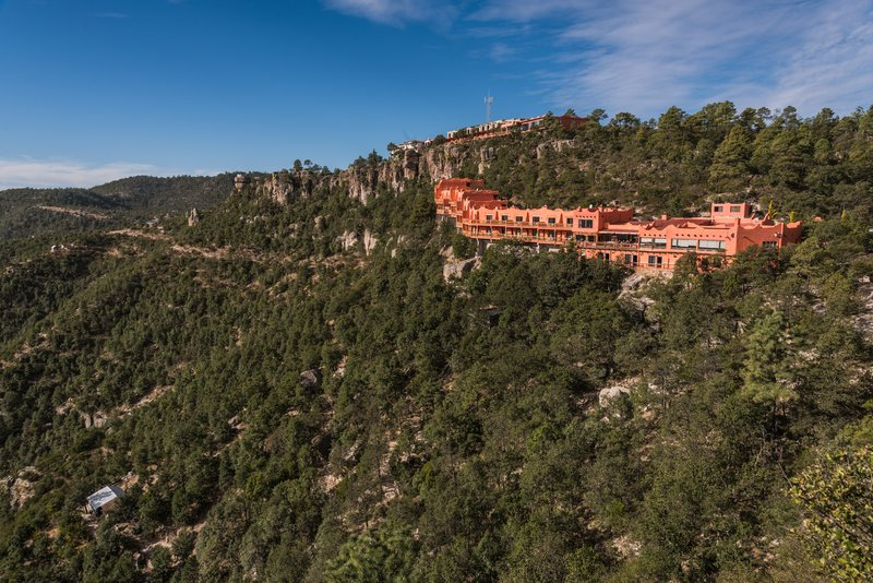 View of the hotel in Copper Canyon