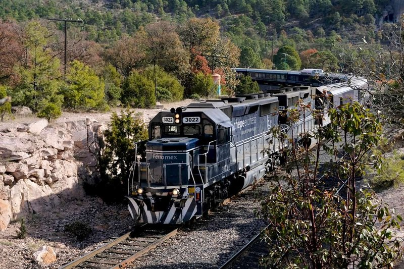 Chepe Express Train Arriving In Copper Canyon Mexico