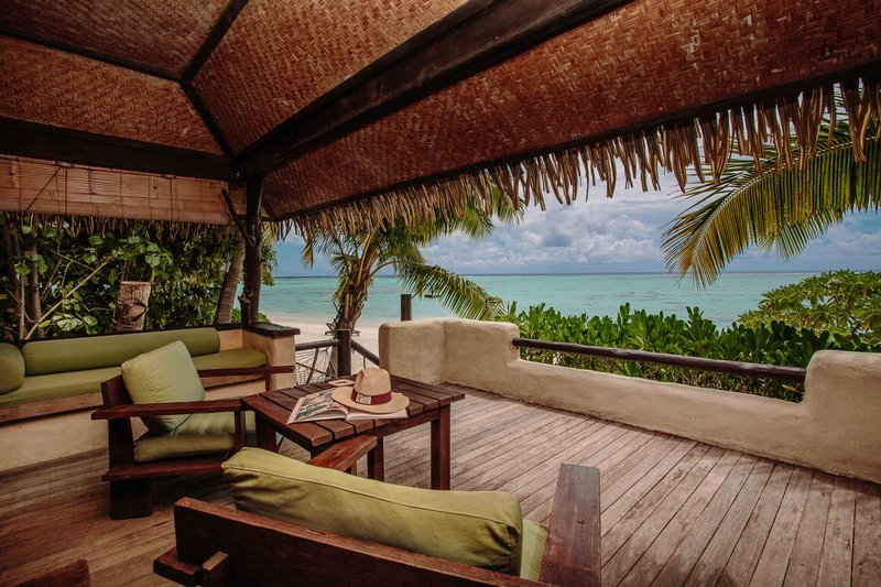 Premium Beachfront Bungalow Deck