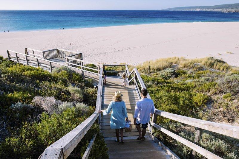Family  Steps to Smiths Beach