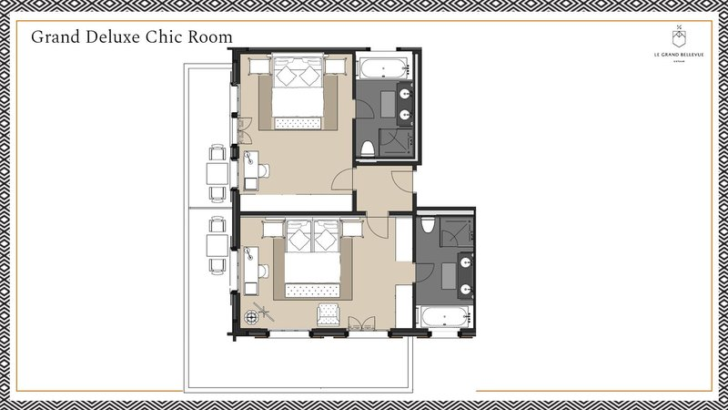 Floorplan Grand Deluxe Chic Room
