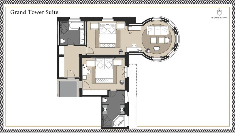 Floorplan Grand Tower Suite