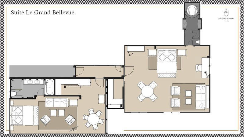 Floorplan Suite Le Grand Bellevue