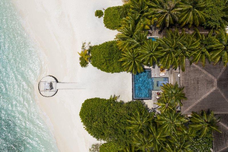 Cube Aerial View Pool Beach
