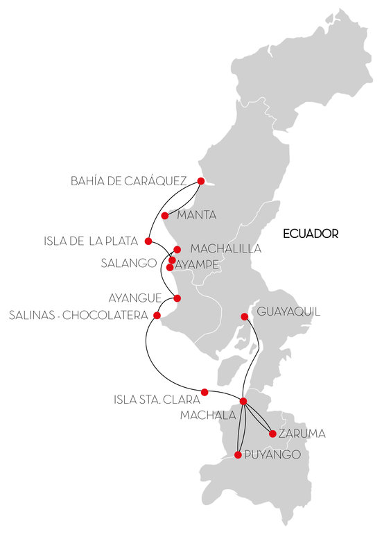 Toquilla Expedition Route