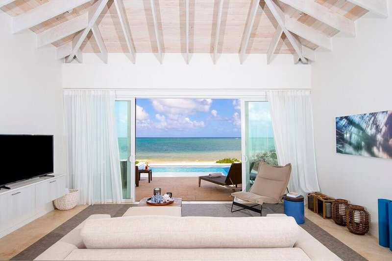 One Bedroom Beachfront Villa Living Room