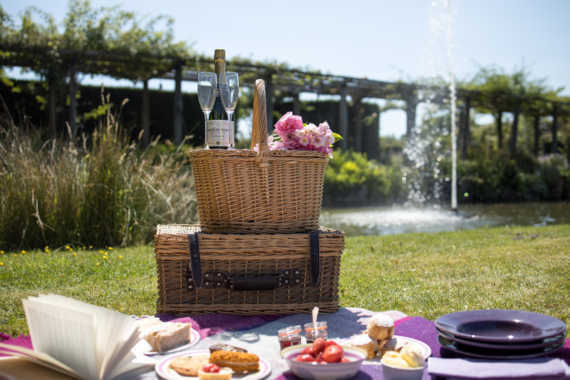 A Summer Picnic in the Gardens at Great Fosters