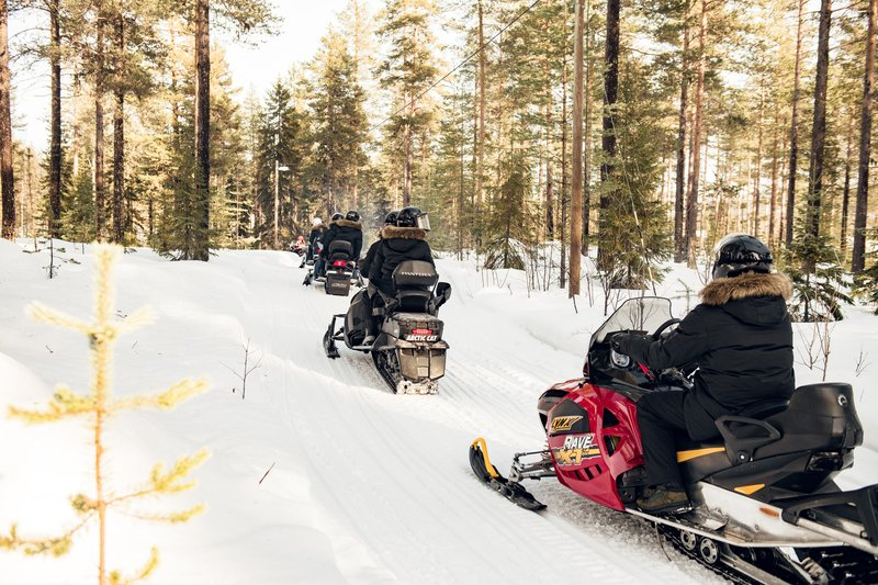 Explore by Snowmobile