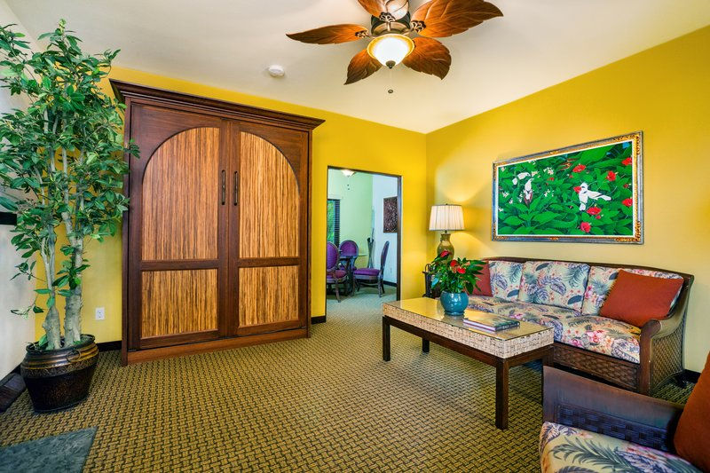 One bedroom partial ocean view - living room - PKQ