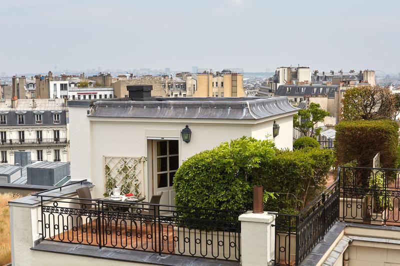Duplex Suite - Terrace with Eiffel Tower and Arc de Triomphe Views