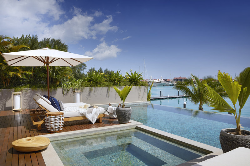 Private infinity pool and Jacuzzi