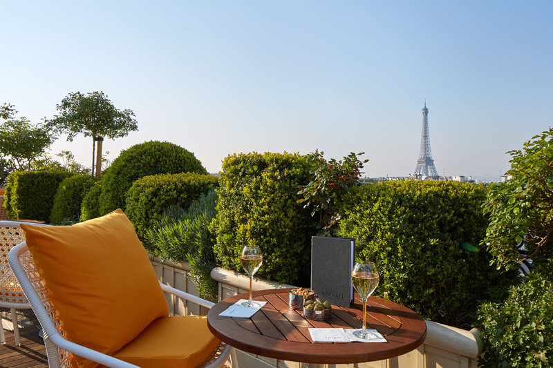 Terrace with Eiffel Tower View