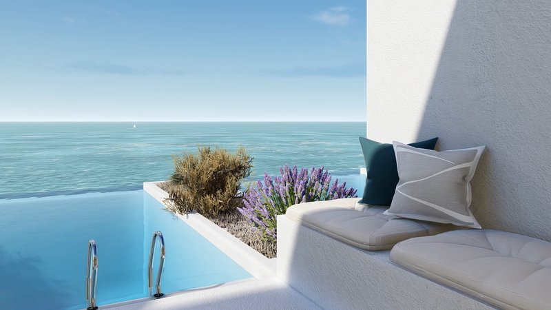 Deluxe Suite just a breath away from sea and private pool