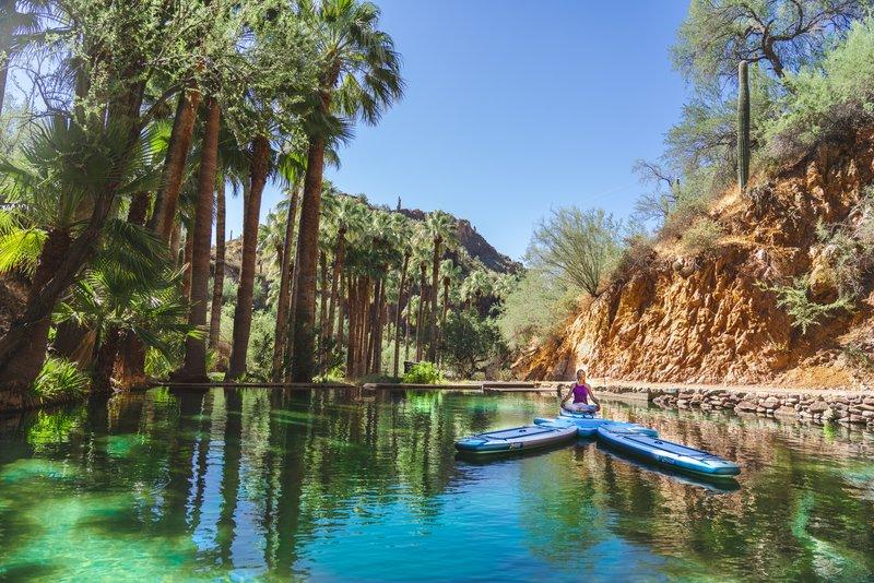 Hot Springs Paddleboard Yoga