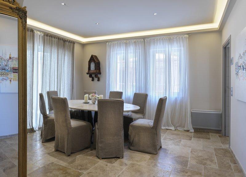 Villa Beau Rivage Dining Room