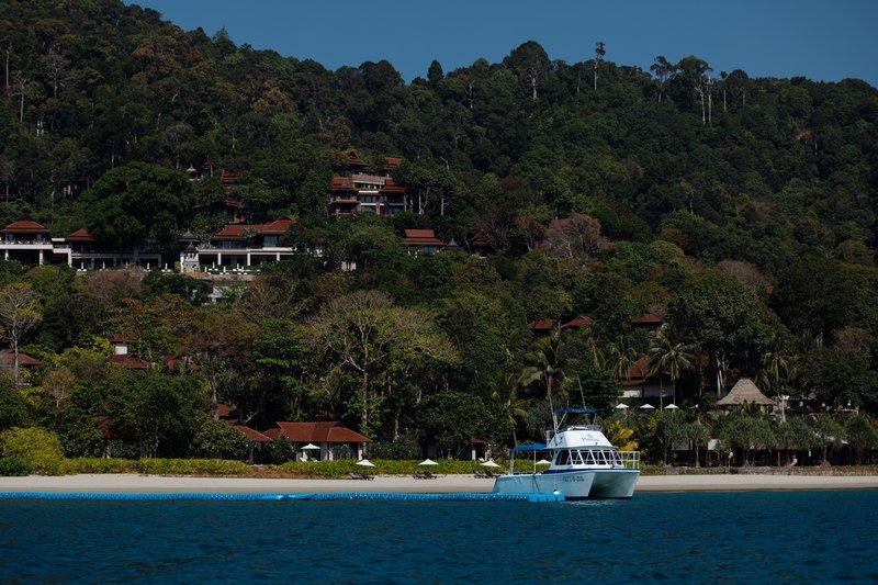 Boat At Resort Jetty