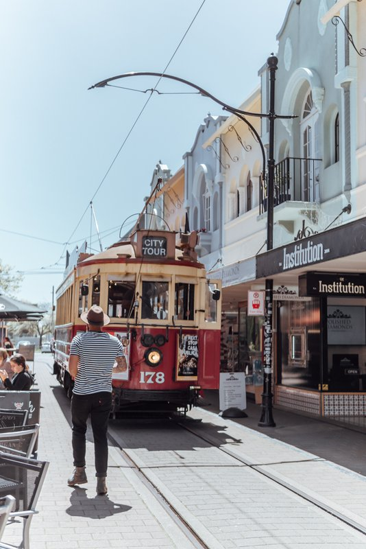Onboard a Christchurch Tram