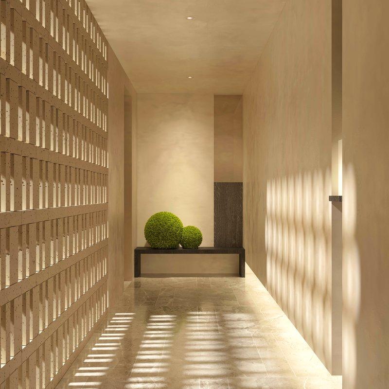 Guest Room Courtyard Suite Hallway