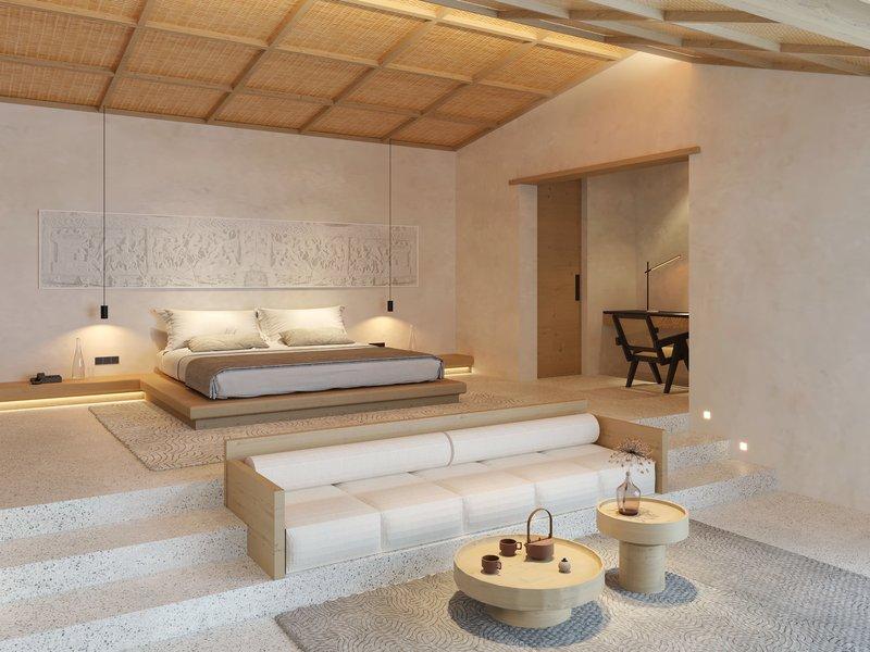 Guest Room Premium Courtyard Suite Bedroom