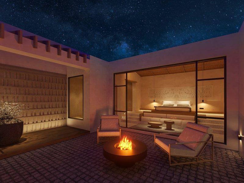 Guest Room Premium Courtyard Suite Courtyard Night