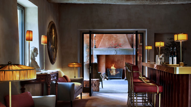 The Palm Court Bar - Hotel Castello Di Reschio