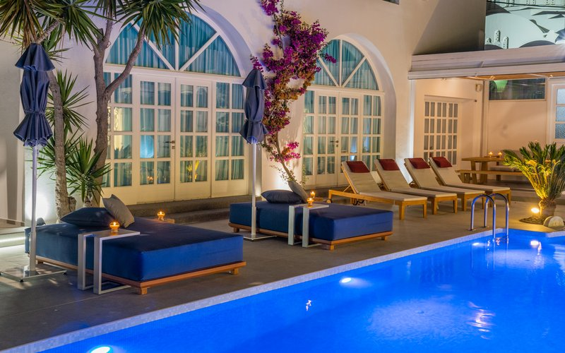Pool View Area by Night