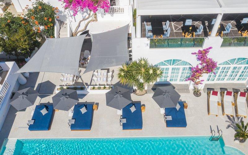 Pool & Restaurant Aerial View