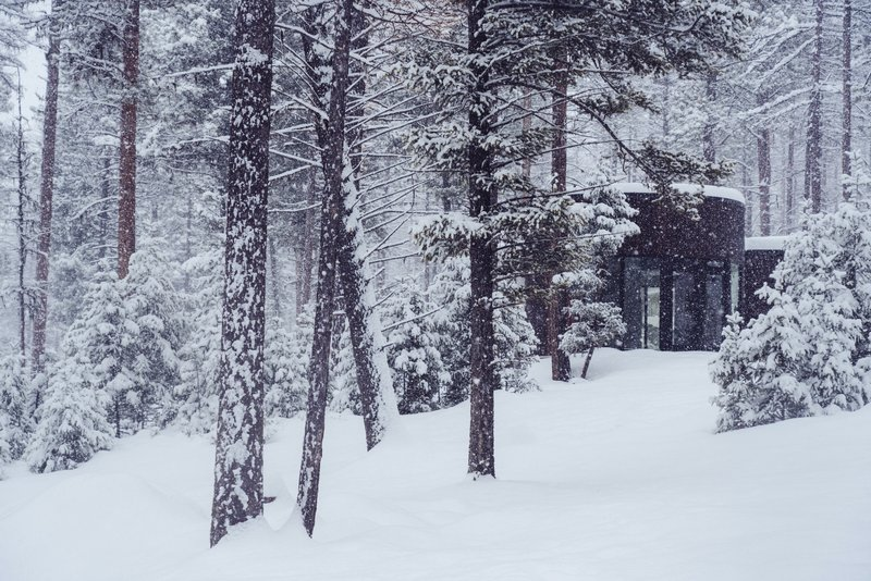 Round Haus Winter Exterior
