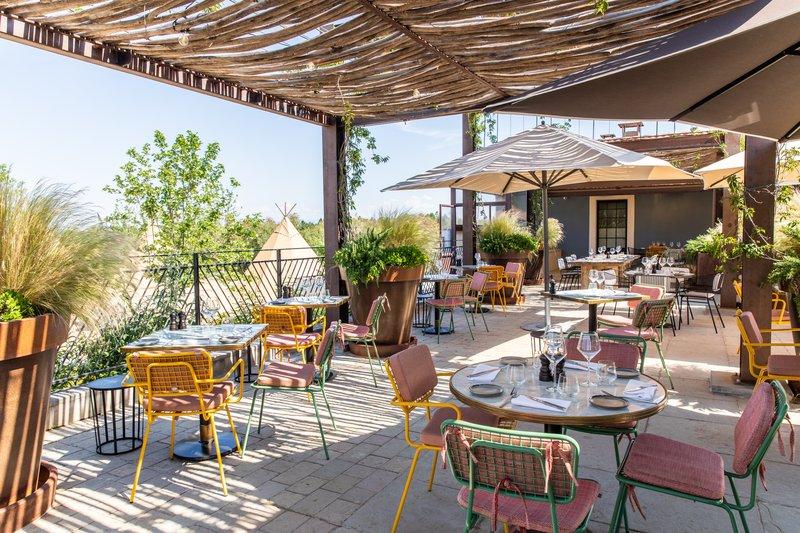 Terrace with Vineyard Views