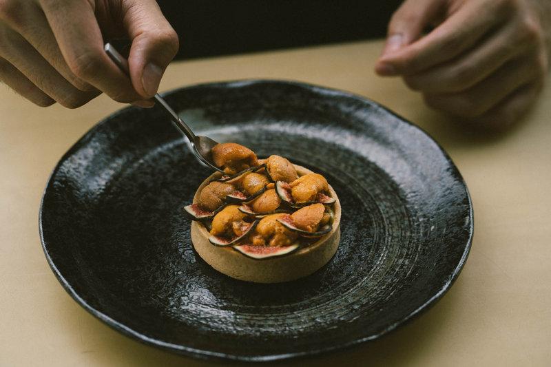 Florian Restaurant Seasonal Menu Uni Tart
