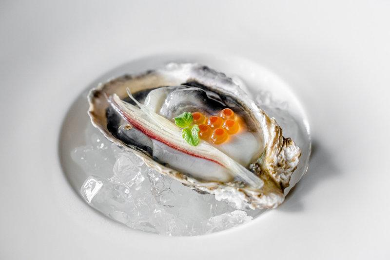 Florian Restaurant Seasonal Menu Ikura Oysters